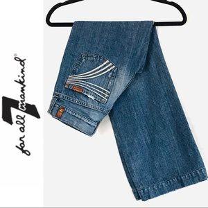 7FAM Dojo Wide Leg Flare Distressed Jeans